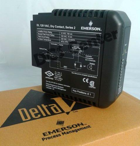 Emerson DeltaV Discrete Input Card 8 Channels 120 Vac Dry Contact Fused Input Output Termination Blo