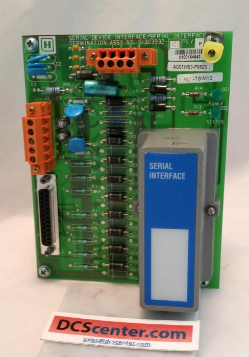 Honeywell UCN Serial Interface FTA Modbus  (51303932-426)  Alt#  MU-TSIM12 | Image